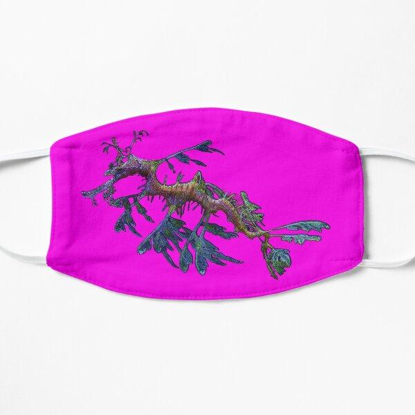 Leafy Sea Dragon on Hot, Candy Pink by Amanda M Lucas Flat Mask