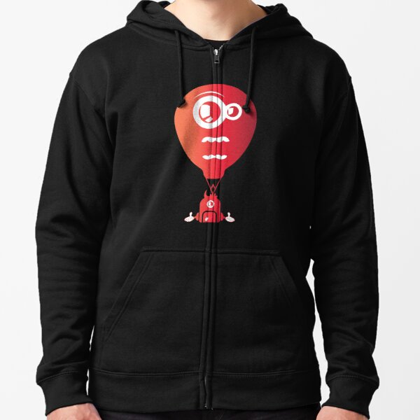Crazy looking hot air balloon Zipped Hoodie