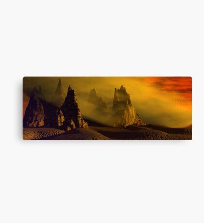 Dust Storm At Sunset Canvas Print