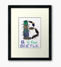 B is for Beetle Framed Print