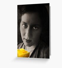 Yellow Morning Rose Greeting Card