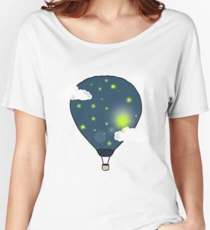 Balloon-Moon Women's Relaxed Fit T-Shirt