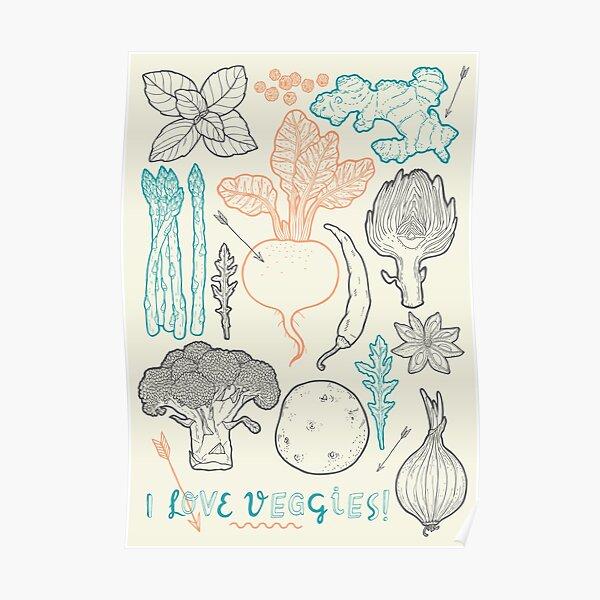 I love vegetables! Poster
