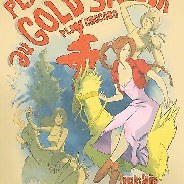 Plaisir in Gold Untertasse von Pipperdigs