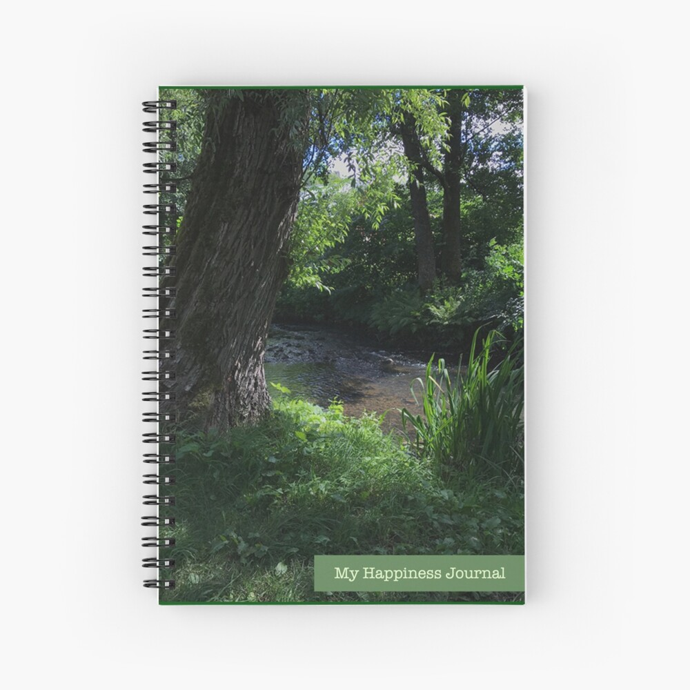 My Happiness Journal Forest River Spiral Notebook