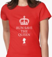 RUN SAVE THE QUEEN Womens Fitted T-Shirt