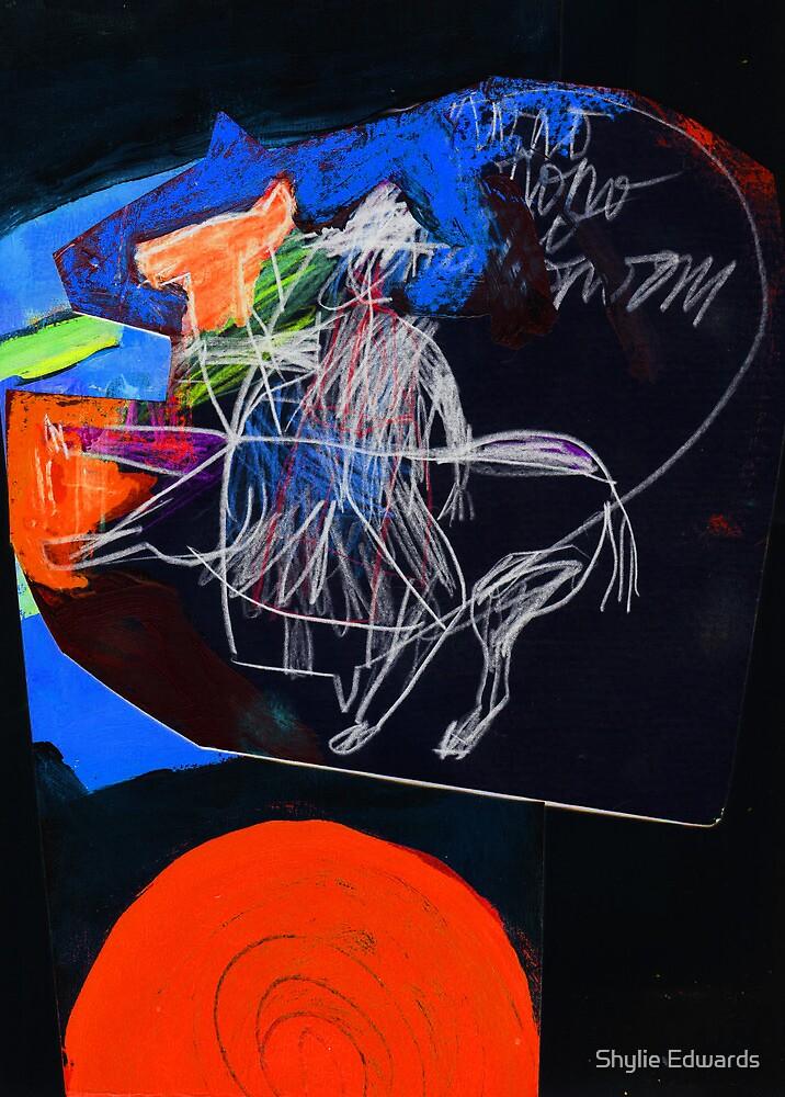 man on horse by Shylie Edwards