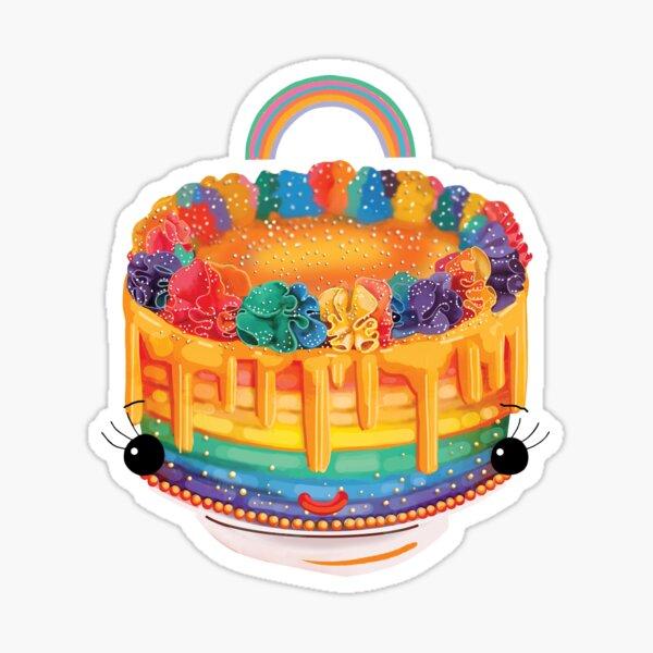 Rainbow Cake Sticker