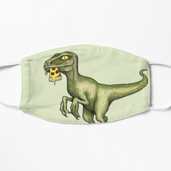 Raptor eating pizza Small Mask