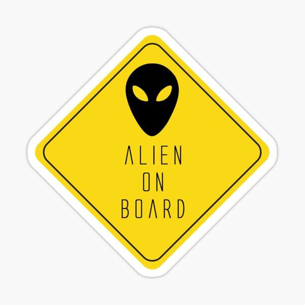 Alien On Board Glossy Sticker