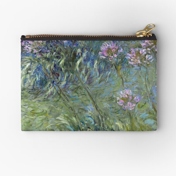 Agapanthus - Claude Monet  Zipper Pouch
