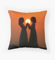Peace, Love and Friendship Throw Pillow