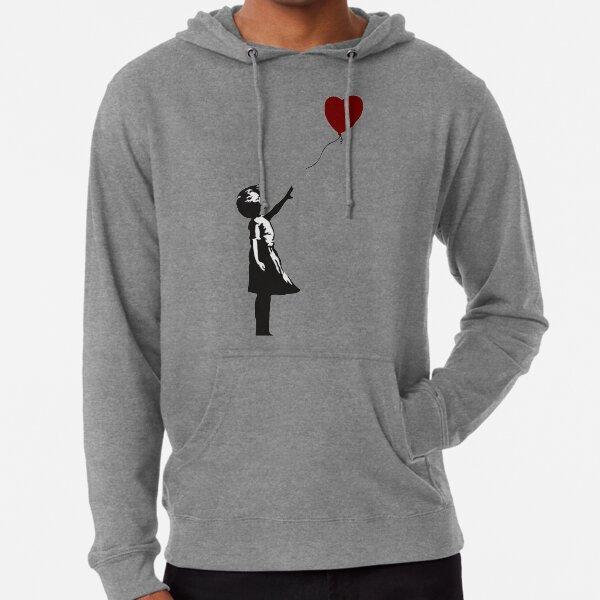 Banksy - Girl with Balloon Heart Lightweight Hoodie