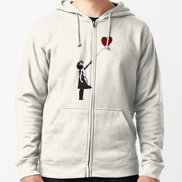 Banksy - Heart Balloon Girl Zipped Hoodie