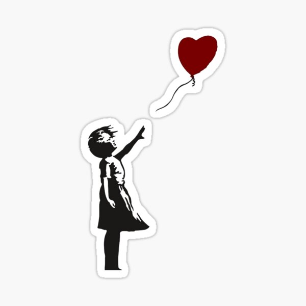 Banksy - Heart Balloon Girl Sticker
