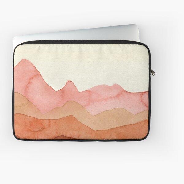 Berge in Orange, Ocker, Braun,  Laptoptasche