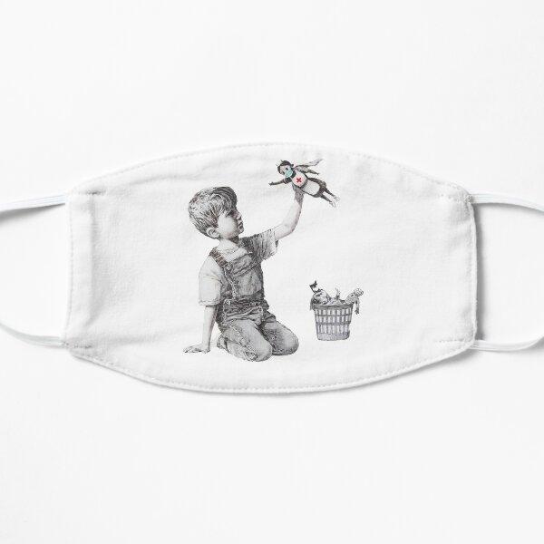 Banksy tribute to nurses Flat Mask