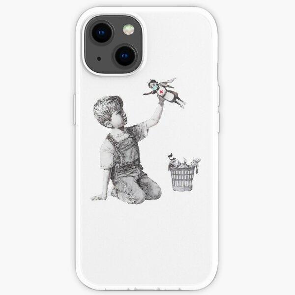Banksy tribute to nurses iPhone Soft Case