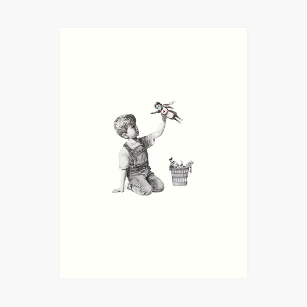 Banksy tribute to nurses Art Print