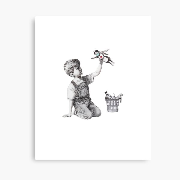 Banksy tribute to nurses Canvas Print