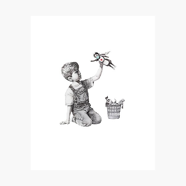 Banksy tribute to nurses Photographic Print