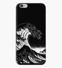 Black & White Hokusai Große Welle iPhone-Hülle & Cover