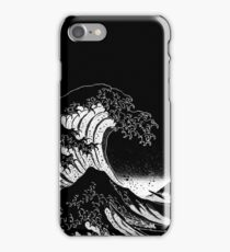 Black & White Hokusai Great Wave iPhone Case/Skin