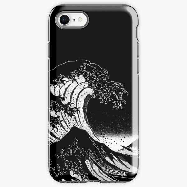 Black & White Hokusai Great Wave iPhone Tough Case