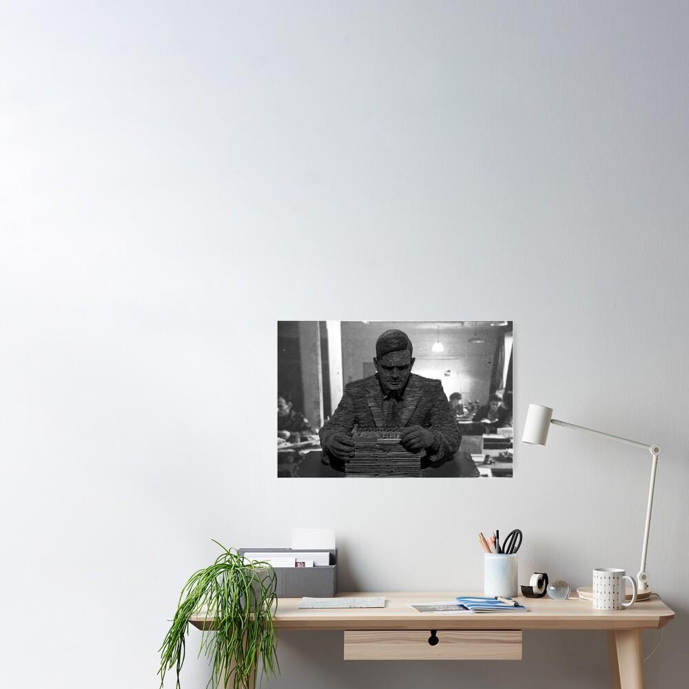 Alan Turing Statue Poster