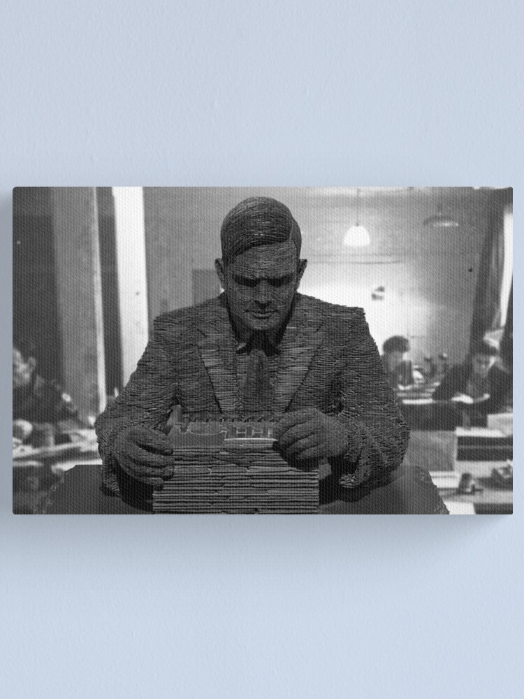 Alternate view of Alan Turing Statue Canvas Print