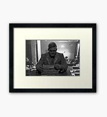 Alan Turing Statue Framed Print