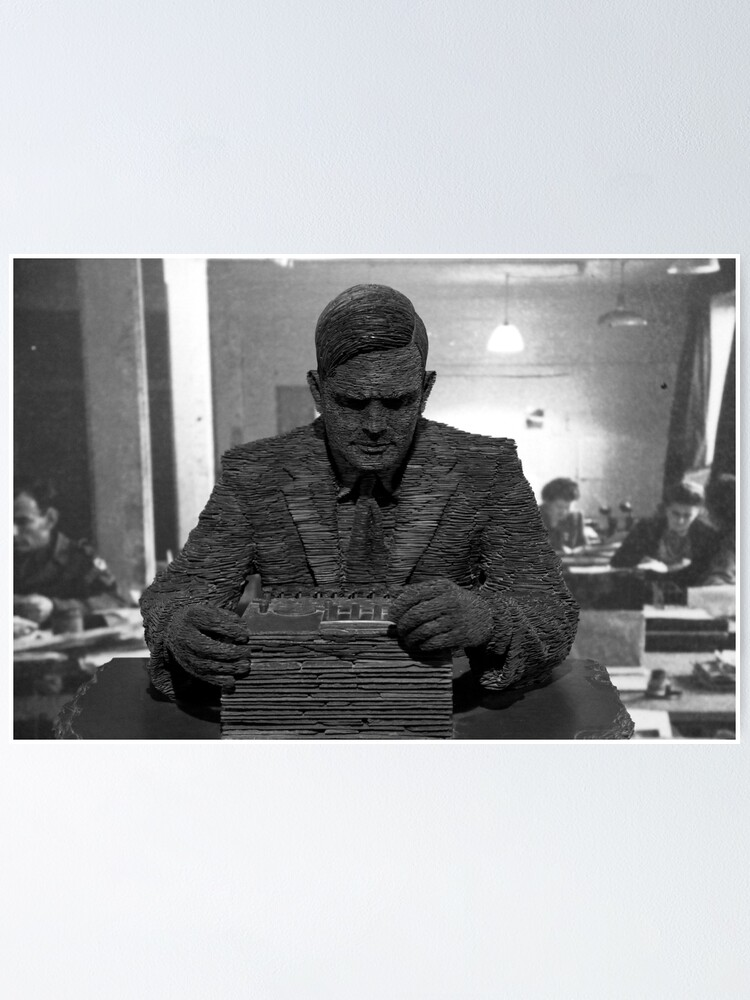 Alternate view of Alan Turing Statue Poster