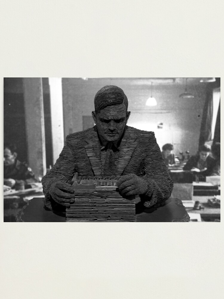 Alternate view of Alan Turing Statue Photographic Print