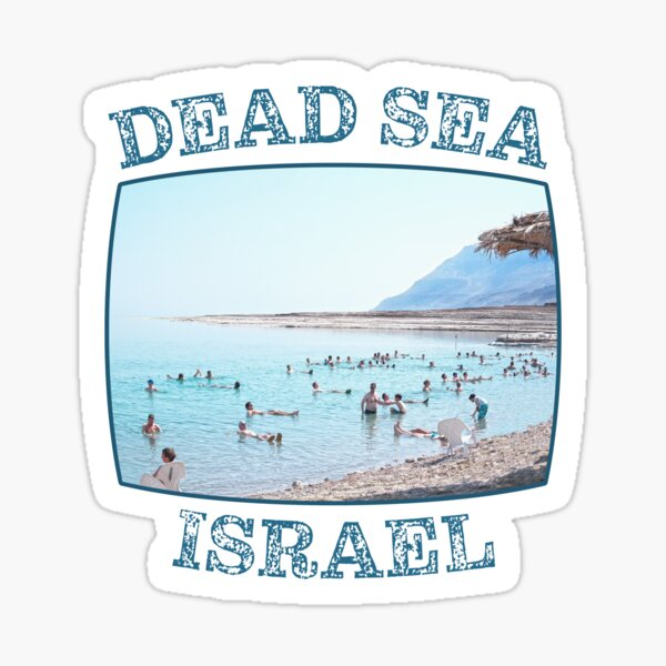 Israel, Dead Sea. Floating and Relaxing. Sticker