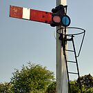 Old Train Signal by Great North Views