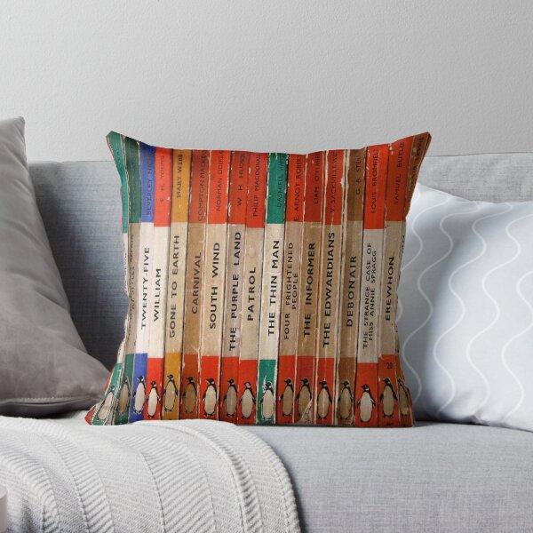 Classic Vintage Penguin Book Art Throw Pillow