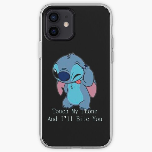 Stitch- touch my phone and I'll bite you iPhone Soft Case