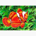 Clown Fish Mask By Ysartgallery Redbubble