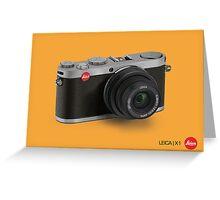 Leica X1 Illustration Greeting Card