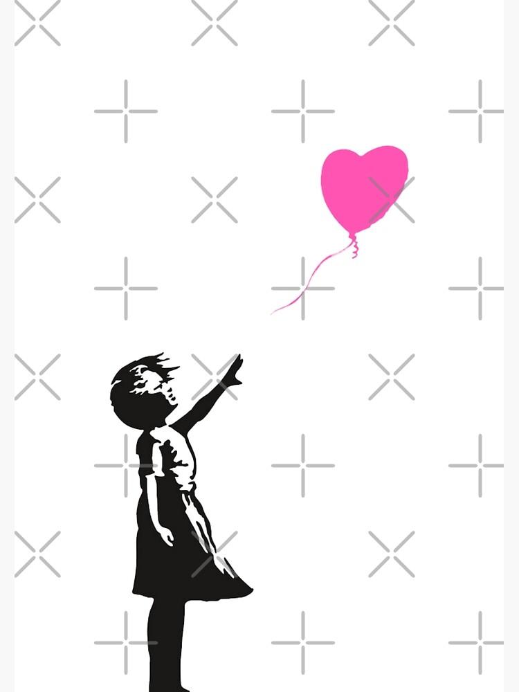 Banksy - Pink Heart Balloon Girl by Luna7