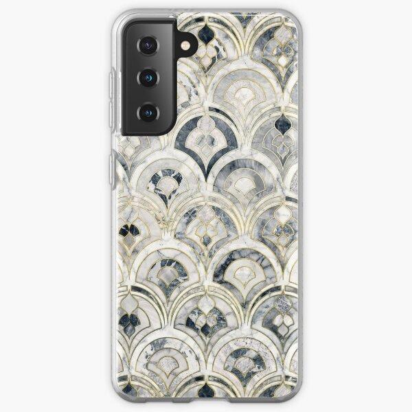 Monochrome Art Deco Marble Tiles Samsung Galaxy Soft Case