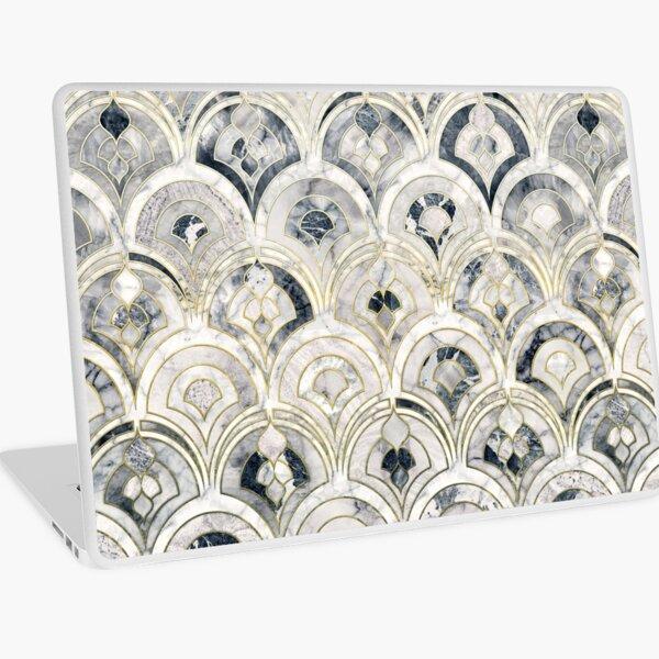 Monochrome Art Deco Marble Tiles Laptop Skin