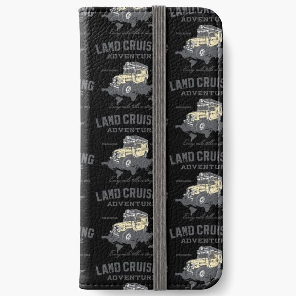 Every Mile Tells a Story - grey print iPhone Wallet
