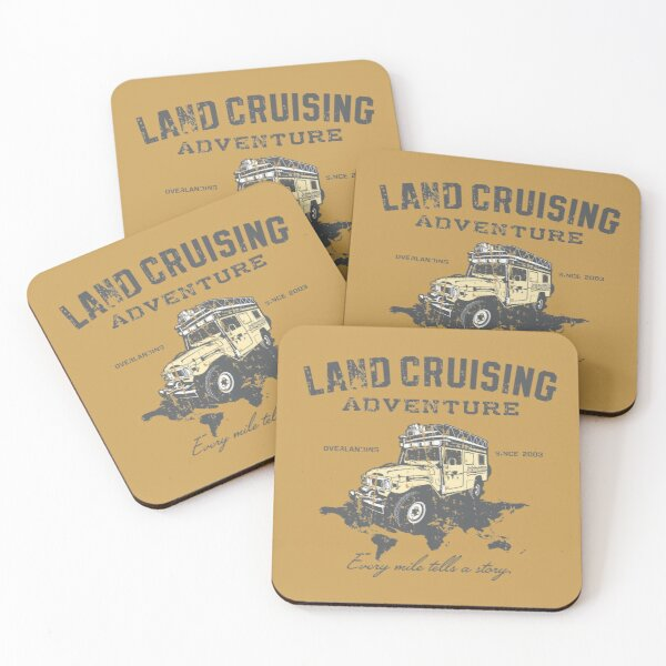 Every Mile Tells a Story - grey print Coasters (Set of 4)