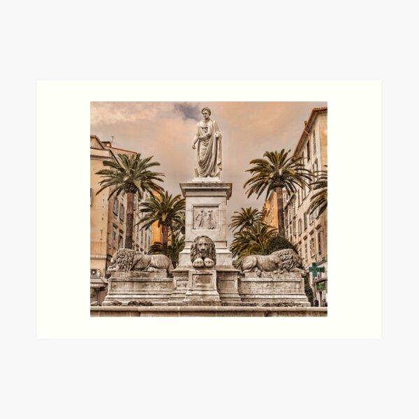 Napoleon  — at Ajaccio (Corsica)  Art Print