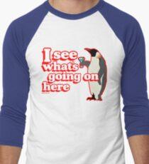 Drunken Penguin Jealousy Men's Baseball ¾ T-Shirt