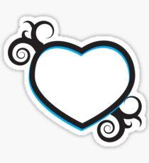 Double Hearts and Swirls Sticker