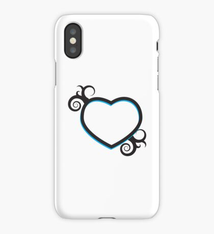 Double Hearts and Swirls iPhone Case/Skin