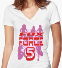 Fox Force 5 Women's Fitted V-Neck T-Shirt