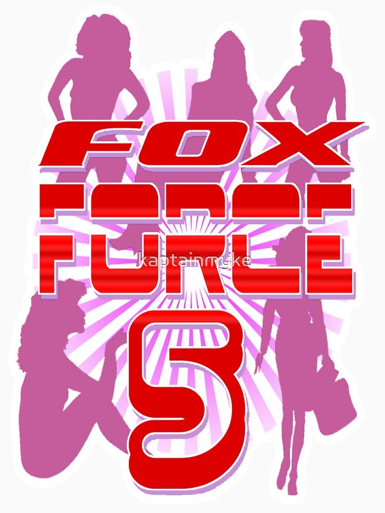 fox force 5 unisex t shirt by kaptainmyke redbubble. Black Bedroom Furniture Sets. Home Design Ideas
